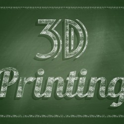 3d printing concept. Chalkboard with text - 3D printing.
